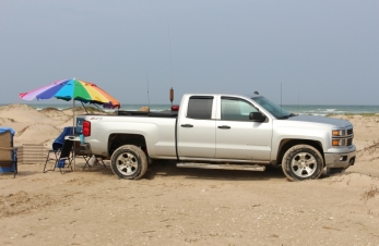 Parked on the beach South Padre Island, Texas