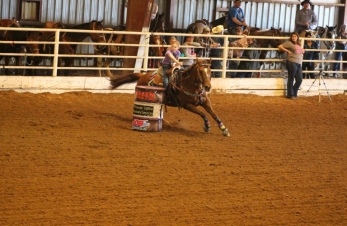 Grand-daughter winning a Cowgirls Barrel Race.